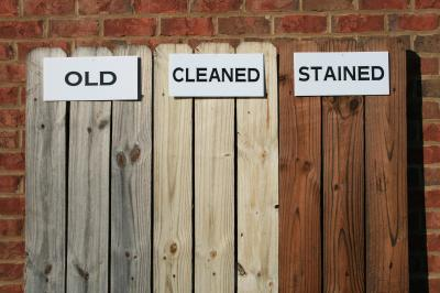 Deck Staining Primer: Cleaning.